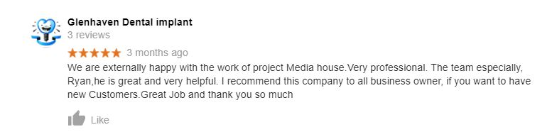 Project Media house testimonial